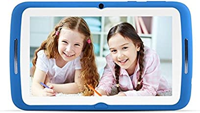 Kinder Tablets PC 7 Zoll, Android 7.1 OS, Kids Tablets W-lan BENEVE iWawa Pre-Installed, Quad Core, HD Touchscreen, 1 GB RAM, 8 GB Speicher, Wifi, Bluetooth, Dual-Kamera mit kindgerechte Silikon Hülle