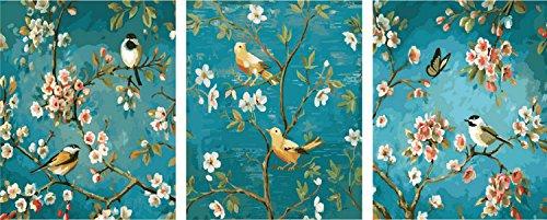 Staffelei 3 Bilder[ Holzrahmen ] Malen nach Zahlen Neuerscheinungen Neuheiten - DIY Gemälde durch...