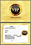 Einladungskarten Kindergeburtstag Teenager Jungen Mädchen VIP - 12 Stück