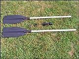 2 Aluminium Paddel je 123 cm oder Doppelpaddel mit 244 cm - BooteundMeer