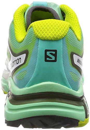 Salomon Damen Wings Pro 2 Laufschuhe Mehrfarbig (Lucite Green/Bubble Blue/Gecko Gree)