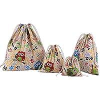 cc00afe55 Abaría - 4 unidades bolsa de algodón grande - Bolsa inserto organizador  para ropa juguete pañales - Bolsos inserto bebé - Grande 37 x 40 cm,  mediano 25x 30 ...