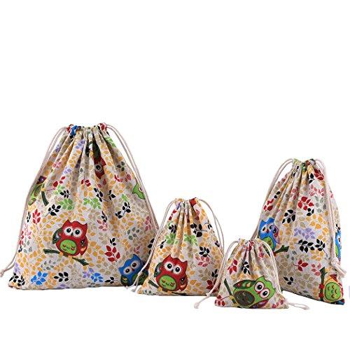 Abaría - 4 unidades bolsa algodón grande - Bolsa