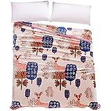 SUNNY KEY--Mantas para cama @ Franela Múltiples colores,Sólido Flores / Botánica 100% Poliéster mantas 200x230cm