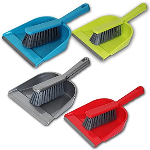DUSTPAN BRUSH SET CLEANING SWEEPING HOME KITCHEN FLOOR CLEANER DIRT DUST PLASTIC by Guaranteed4Less
