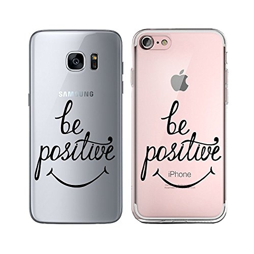 Blitz® TAKE IT EASY motifs housse de protection transparent TPE caricature bande iPhone Fuck you M13 iPhone 5 Be positive M11