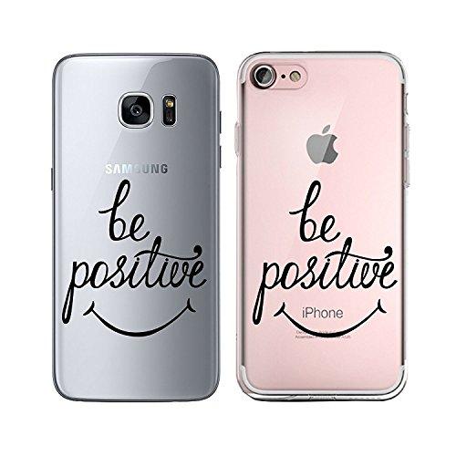 Blitz® TAKE IT EASY motifs housse de protection transparent TPE caricature bande iPhone ti amo M14 iPhone 4 Be positive M11