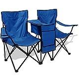Camping-Stuhl doppelt 155x 47x 84cm Blau