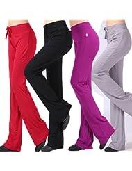 Señoras pantalones de danza , 2xl , modal yoga pants dark grey