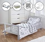 Kinder Valley Grey Toddler Bed Bundle 7 Piece Woodland Tales