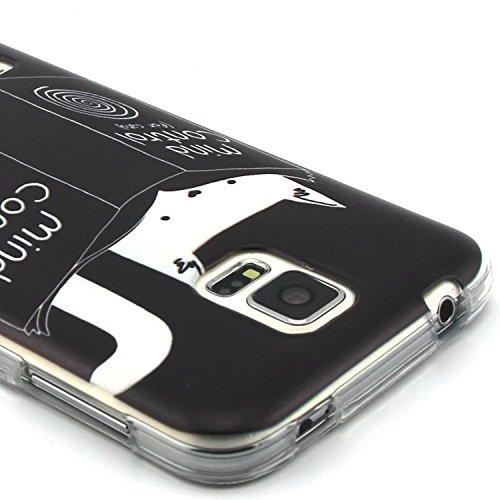 iPhone 4 Silicone Case,iPhone 4S Coque - Felfy Ultra Slim Soft Gel Flexible TPU Case Cover Coque Housse Beaux Motifs Peint Protection Case Cover Etui (Renard Mignon) + 1 x Noir Stylus + 1 x Screen Pro Kitten Lecture