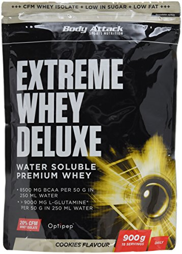 Body Attack Extreme Whey Deluxe, Cookies & Cream + Vanille, 1800 g, 2 Stück -