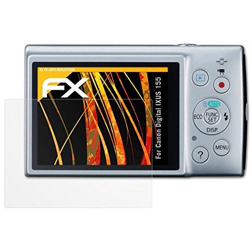für Canon Digital IXUS 155 / PowerShot ELPH 150 IS Displayschutzfolie - 3 x FX-Antireflex blendfreie Folie (Canon Elph 150)
