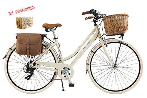Via Veneto By Canellini Bicicleta Bici Citybike CTB Mujer Vintage Dolce Vita Aluminio nata beige (46)