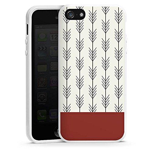Apple iPhone SE Housse Outdoor Étui militaire Coque Ethnique Flèches Motif Housse en silicone blanc
