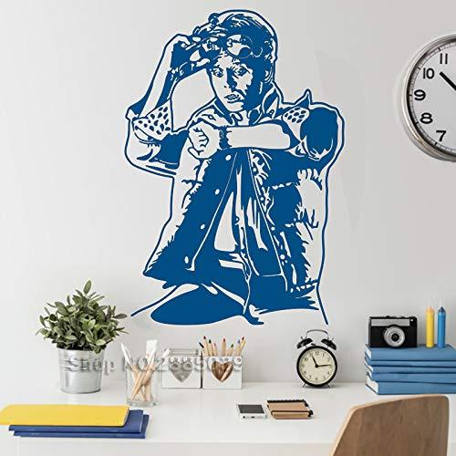 wukongsun Neue Regale sänger Vinyl wandaufkleber Wohnzimmer Schlafzimmer wandbild wasserdicht beweglichen künstler Dekoration tapete blau M 56 cm x 80 cm