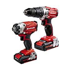 Einhell 2.0 Ah Power X-Change Cordless Combi Drill and Impact Driver - Twin Pack