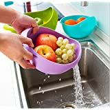 Xtore™ Rice Pulses Fruits Vegetable Noodles Pasta Washing Bowl & Strainer  Premium Quality