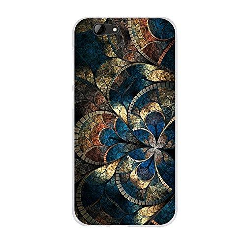 Fubaoda Hülle für HTC One A9s, Ultra Dünn Soft Silikon Schutzhülle Elegant Zeichnung [Mandala], Hochwertige Gummi Schutzhüllen, Handyhülle für HTC One A9s (5.0