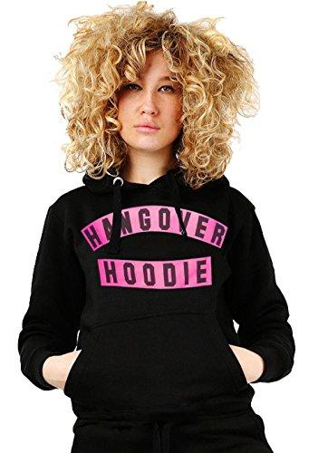 Janisramone Femmes Dames Nouveau Hangover Hoodie Slogan Imprimer Longue Manche Sweat-shirt Toison sauteur Chaleureux Haut Noir - Rose