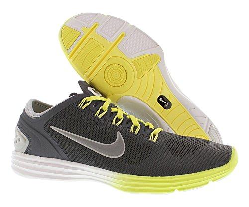 Femmes Nike Lunarhyperworkout Xt + Chaussures de course M Dark Grey Metallic Silver Yellow