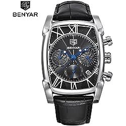 Benyar-Montreàquartzrectangulairepourhomme