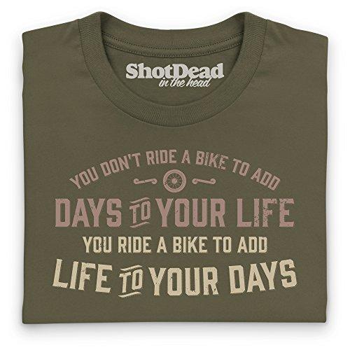 Add Life To Your Days T-Shirt, Herren Olivgrn