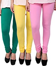 Superior Cotton Stretched Leggings Combo (Pack of 3)