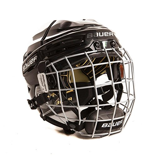 BAUER RE-AKT 100 Helm Combo Bambini, Farbe:weiss