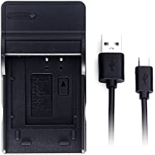 D-Li92 USB Chargeur pour Pentax Optio I-10, Optio RZ10, Optio RZ10 Lime, Optio RZ10 Violet, Optio RZ18, Optio WG-1, Optio WG-1 GPS, Optio WG-2, Optio WG-2 GPS, WG-10, WG-3, WG-3 GPS, X70 Caméra