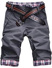 Minetom Homme Shorts Slim Fit Pantalon Style Décontracté Pour Travailler Casual sans Ceinture