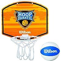 Wilson Fanatic Hoop Canasta de Mini Basket, Naranja / Blanco / Azul, Talla Única