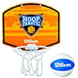 Wilson Fanatic Mini Hoop Kit Basketball, Orange/White/Blue, One Size