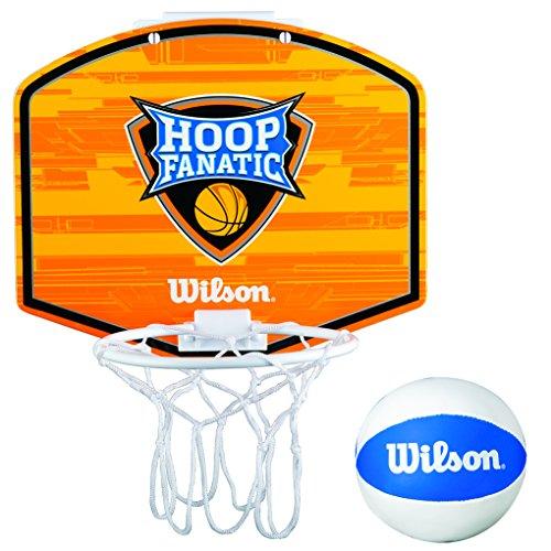 WILSON Fanatic Mini Hoop KIT Basketball, Orange/White/Blue, One Size