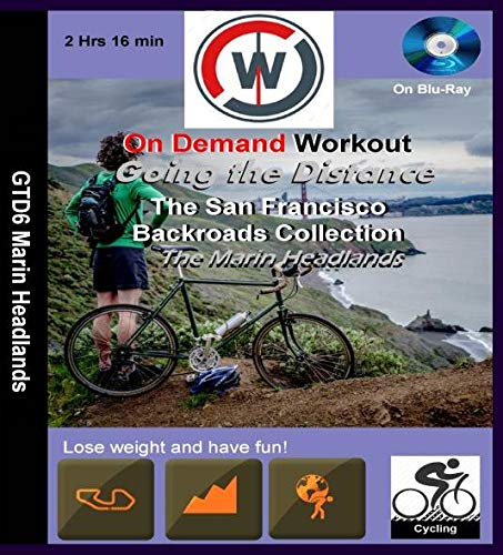 Indoor-marine (Going the Distance, The San Francisco Backroads Collection, The Marin Headlands - Virtual Indoor Cycling Training / Spinning Fitness and Weight Loss Videos [Blu-ray])