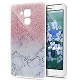 Huawei Honor 5C Hülle,Huawei Honor 5C Schutzhülle,Gemalt Kunst Malerei Muster Handyhülle Silikon TPU Silikon Hülle Handyhülle Tasche Durchsichtig Schutzhülle für Huawei Honor 5C,Rosa Marmor Marble