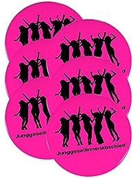 6er SET Ansteck Button - Junggesellinnenabschied - Ø 5,6 cm - Buttons für Junggesellenabschied - Neon Pink - Ansteckbutton - Anstecker