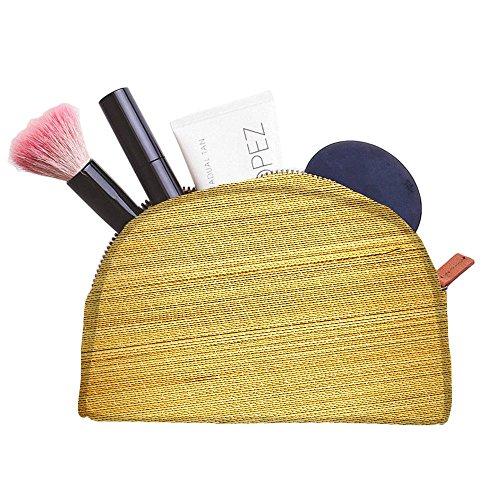 Snoogg Tapis en bambou Fond multifonctionnel Toile Pen Sac trousse maquillage Outil Sac pochette de rangement Sac à main