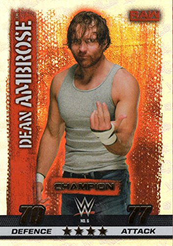 WWE SLAM ATTAX 10 - DEAN AMBROSE CHAMPION TRADING CARD - WRESTLING