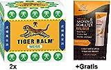 2x 19,4g Tiger Balm Weiß +Gratis Nacken & Schulter Balsam. Zur Verbesserung des Befindens bei Erkältungsbeschwerden. Zur Förderung der Hautdurchblutung bei Muskel- und Gelenkbeschwerden. Vegan.