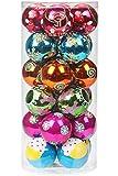 Sea Team 60mm Painting & Glitter Weihnachtsbäume Anhänger Christmas Ball Ornament Set - 24 Stück