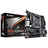 Gigabyte B450 Aorus M - Placa de Base, Color Negro