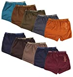 e-Fresh Boys' Cotton Briefs, Set of 10 (JOY_DRAWER_OE_PLAIN_10_70, Multi-Coloured ,7-8 Years)