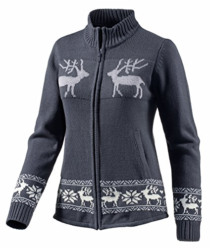 White Season Damen Strickpullover, Grau, 36, 172896