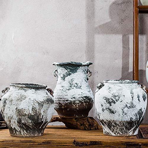 Vase DecorRetro binauralen Keramik Vase Splash Glasur Matte Antiquitäten Modell Raumgestaltung Schmuck Ornamente Home Freunde und Familie (Antiquitäten Glasur Möbel Für)