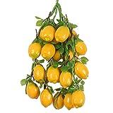 5pcs Chaîne de Fruits / Légumes Artificiels Décoration Suspendu pour Cuisine Jardin - Jaune citron