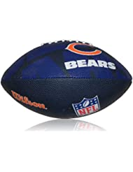 Wilson Football NFL Junior Chicago Bears Logo - Balón de fútbol americano ( infantil, caucho ) , color multicolor, talla 5