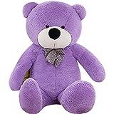 Dis gigante enorme de peluche Animales de peluche oso de peluche muñeca de juguete oso de peluche perro, purple 1.2m