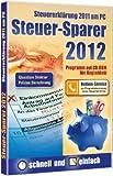 Steuer-Sparer 2012, 1 CD-ROM Steuererkl�rung 2011 am PC. Glasklare Struktur. Pr�zise Berechnung. F�r Windows XP SP2/Vista/7 Bild