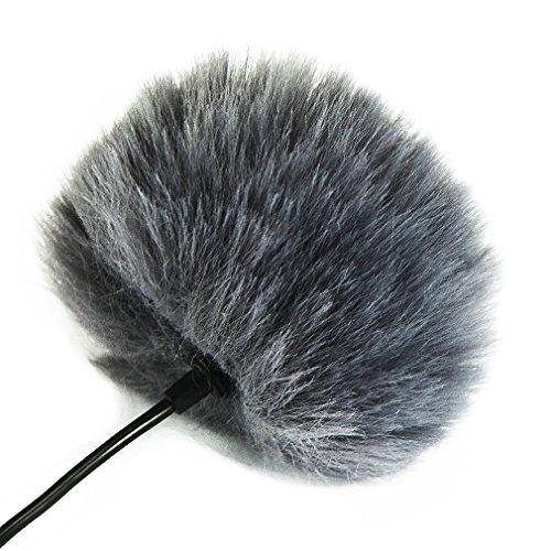 First2savvv TM-D11-B11 Bonnette anti-vent Furry à l'extérieur pour enregistreurs numériques portables pour BOYA BY WM8 WM6 WM5 GM10 M40D M1 LM20 Saramonic UwMic9 UwMic10